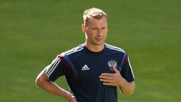 Защитник сборной России по футболу Василий Березуцкий