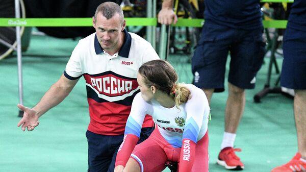 Тренер женской спринтерской группы сборной России Владимир Кирильцев (слева)