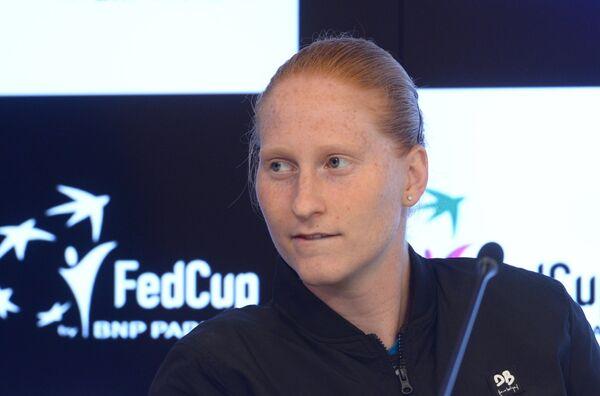 Бельгийская теннисистка Элисон Ван Эйтванк
