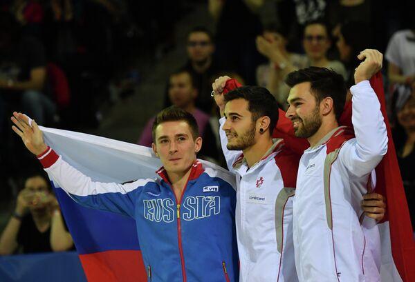 Давид Белявский, Пабло Бреггер и Оливер Хеги (слева направо)