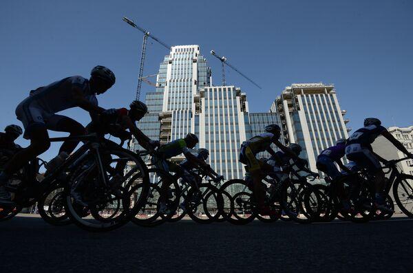 Участники велогонки Пять Колец Москвы