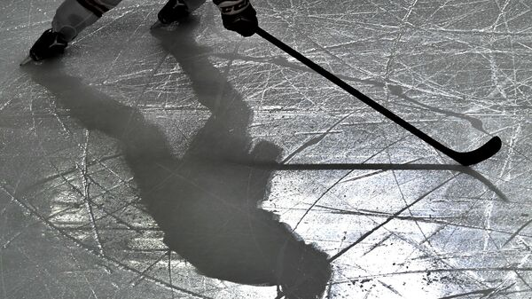 Хоккеист во время матча