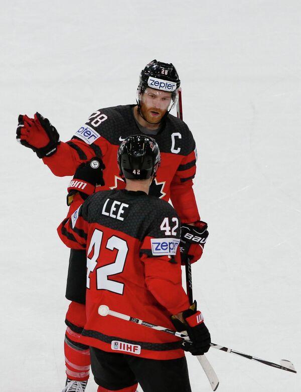 Защитник сборной Канады по хоккею Крис Ли