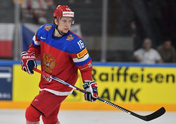 Нападающий сборной России Сергей Плотников.