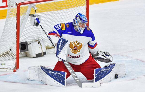 Вратарь сборной России Андрей Василевский