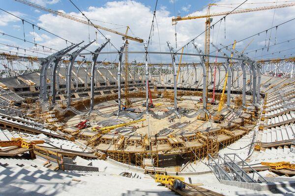 Строительство стадиона в Волгограде, на котором пройдут матчи ЧМ-2018