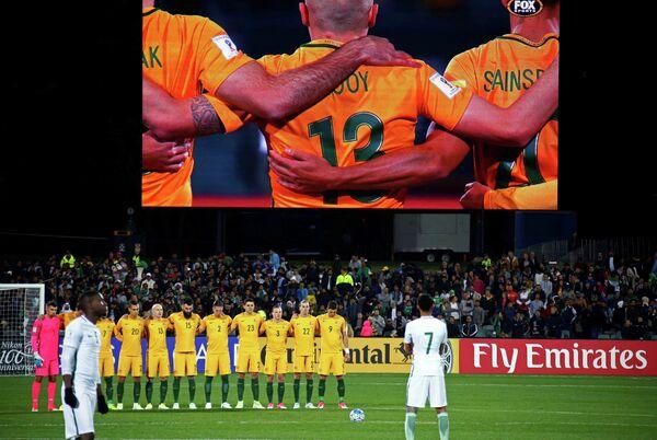Минута молчания перед началом матча футбольных сборных Австралии и Саудовской Аравии