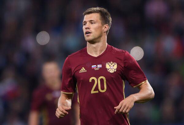 Нападающий сборной России Максим Канунников