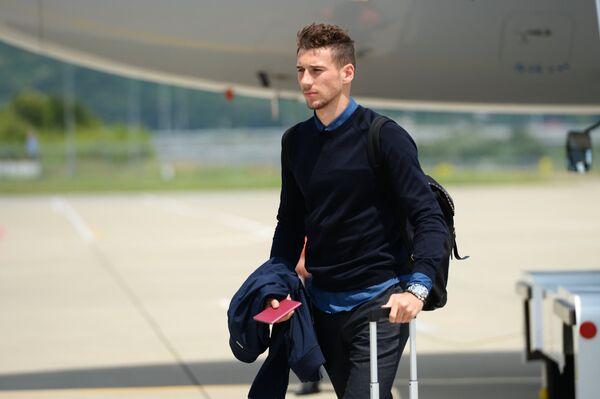 Вратарь сборной Германии по футбол Кевин Трапп