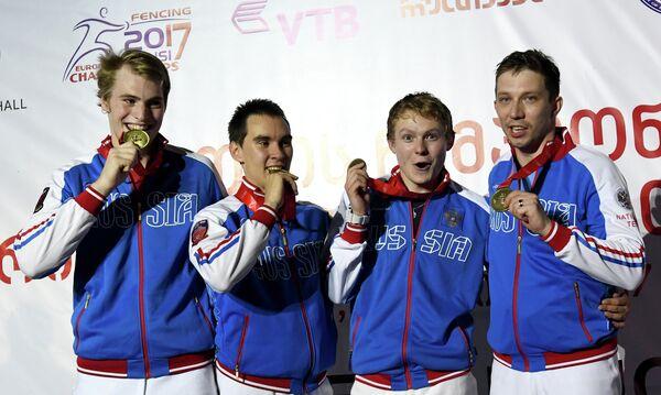 Владислав Поздняков, Камил Ибрагимов, Дмитрий Даниленко и Алексей Якименко (слева направо)