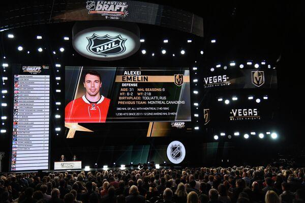 Вегас Голден Найтс выбрал Алексея Емелина на драфте расширения НХЛ