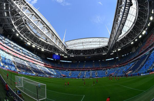 Стадион Санкт-Петербург перед матчем