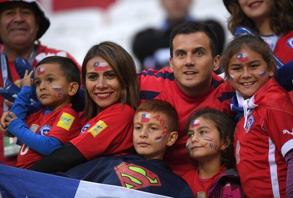 Болельщики сборной Чили