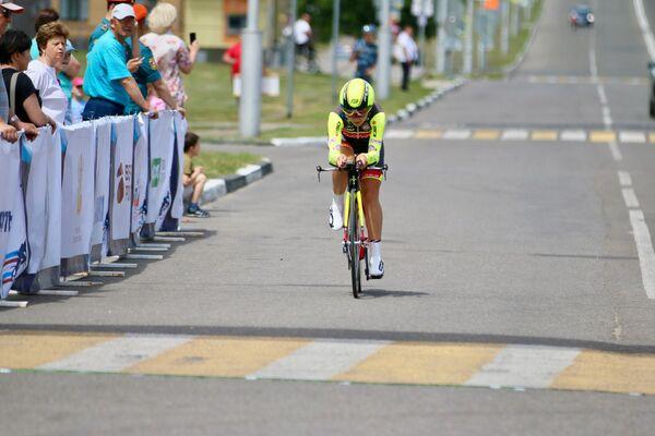 Российская велогонщица Ксения Цымбалюк