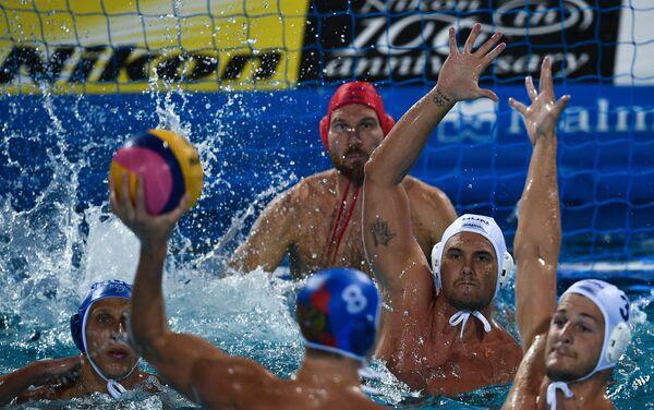Игровой момент матча Венгрия – Россия