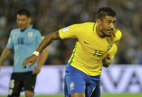 Полузащитник сборной Бразилии Паулиньо