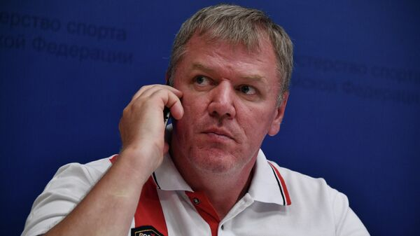 Главный тренер сборной России по скелетону Данил Чабан