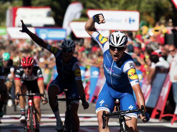 Бельгийский велогонщик Ив Лампарт из команды Quick-Step Floors