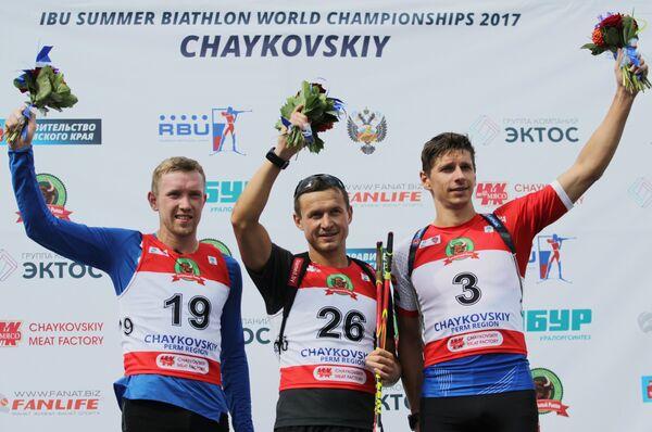 Алексей Волков, Владимир Чепелин и Томаш Хасилла (слева направо)