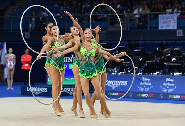 Спортсменки сборной КНР