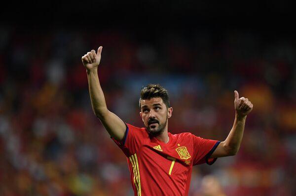 Нападающий сборной Испании Давид Вилья