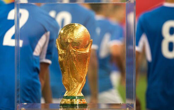 Представление кубка чемпионата мира 2018 в спортивном комплексе Красная звезда в Омске