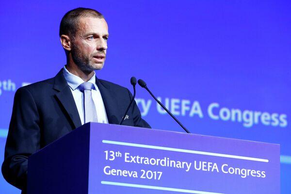 Президент Союза европейских футбольных ассоциаций (УЕФА) Александер Чеферин