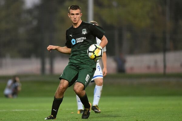 Защитник молодежной команды Краснодара Илья Мартынов