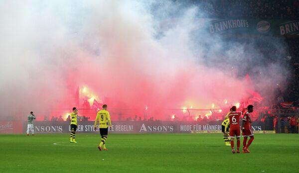 Игровой момент матча чемпионата Германии Боруссия (Дортмунд) - Бавария