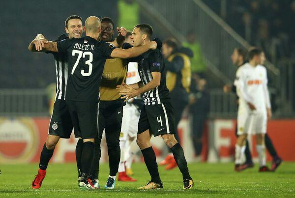 Футболисты сербского Партизана