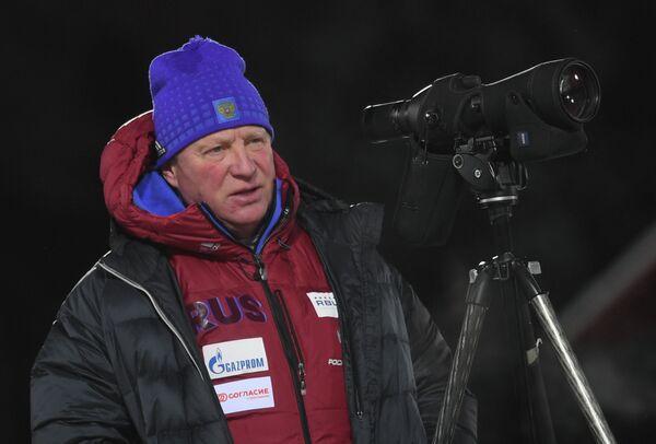 Тренер мужской сборной России по биатлону Андрей Гербулов