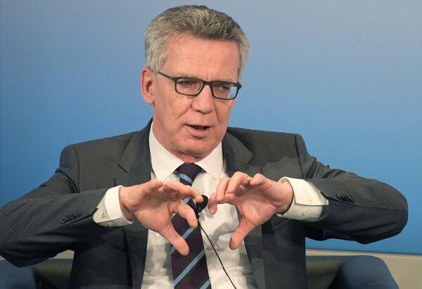 Министр внутренних дел ФРГ Томас де Мезьер