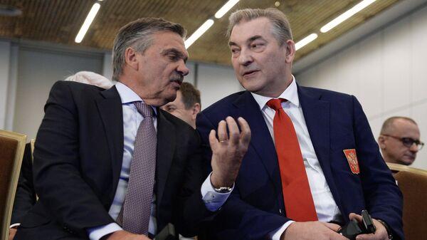 Рене Фазель (слева) и Владислав Третьяк