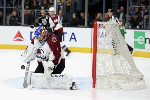 Вратарь клуба НХЛ Колорадо Эвеланш Семен Варламов