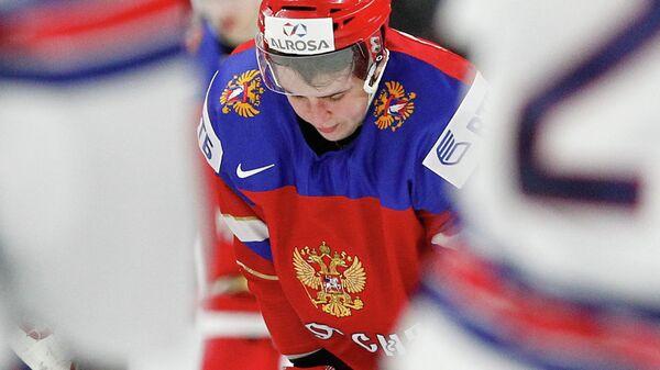 Нападающий молодежной сборной России по хоккею Андрей Алтыбармакян