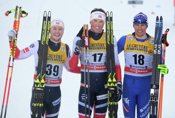 Синдре Бьёрнестад Скар, Эмиль Иверсен и Франческо Де Фабиани (слева направо)