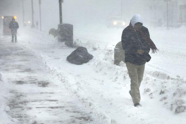 Снежный шторм в Бостоне