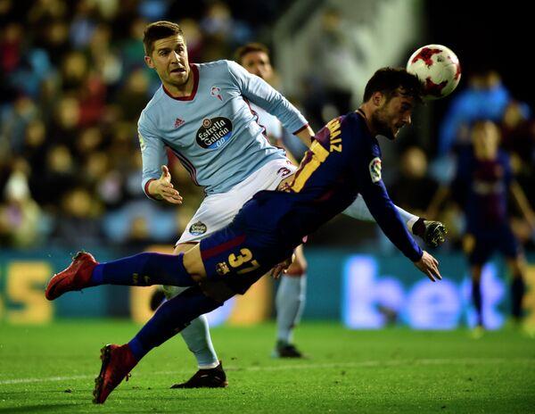 Игровой момент матча Кубка Испании между Сельтой и Барселоной