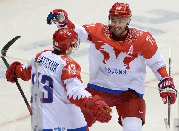 Павел Дацюк и Илья Ковальчук (справа)