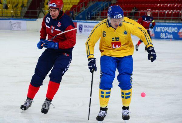 Хоккей с мячом. Чемпионат мира. Матч Швеция - Норвегия