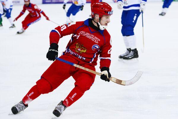 Игрок сборной России Янис Бефус