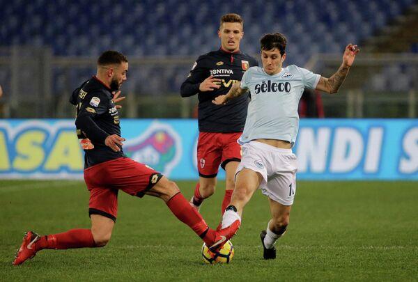 Игровой момент матча чемпионата Италии Лацио - Дженоа