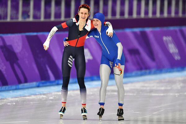 Мартина Сабликова и Наталья Воронина (слева направо)