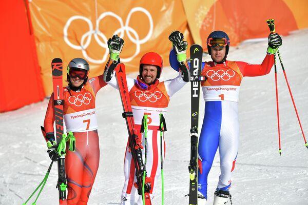 Хенрик Кристофферсен, Марсель Хиршер и Алексис Пентюро (слева направо)