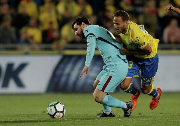 Игровой момент матча Барселона - Лас-Пальмас