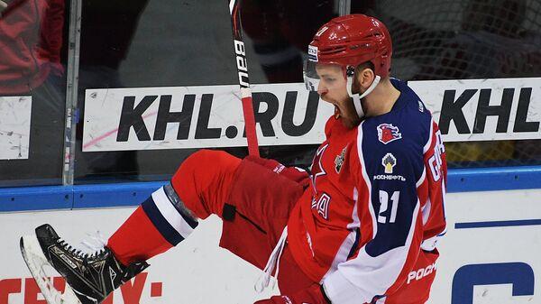 Нападающий ПХК ЦСКА Михаил Григоренко