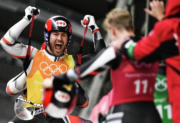 Олимпиада 2018. Санный спорт. Командная эстафета