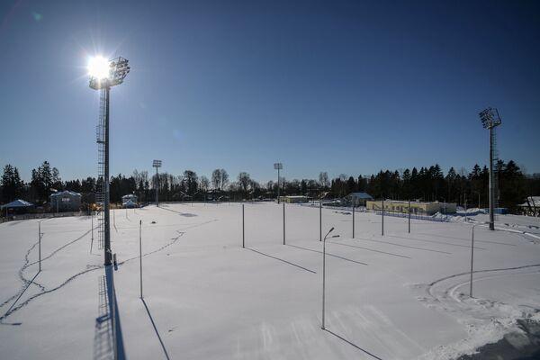 Футбольная тренировочная площадка в городе Зеленогорске