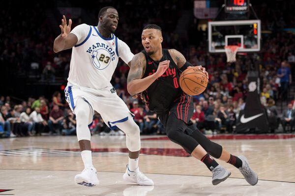 Игровой момент мачта НБА Портленд - Голден Стэйт