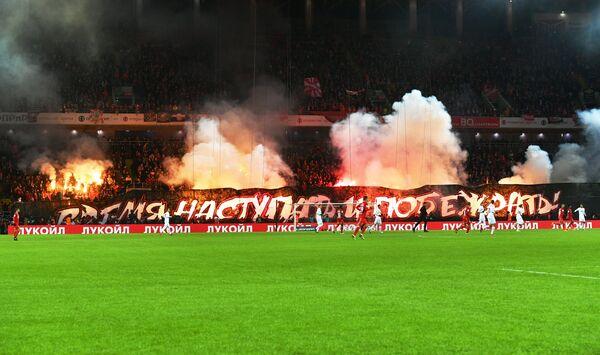 Игровой момент матча 22-го тура РФПЛ Спартак - СКА-Хабаровск